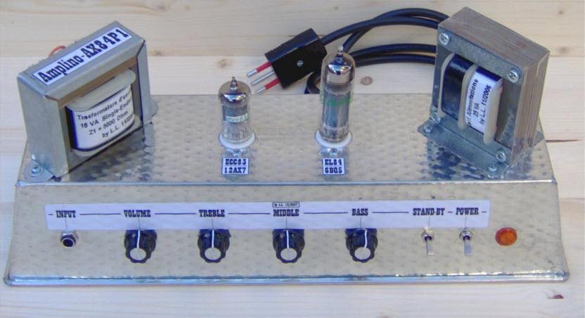 Schema Elettrico Amplificatore Valvolare Per Chitarra : Amplino ottimo amplificatore valvolare da w costruire