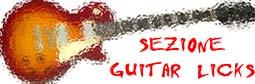 Sezione Guitar Licks per improvvisare con la chitarra