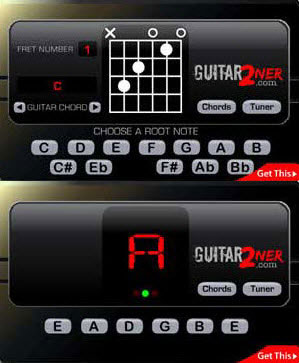 Guitar2Ner: Accordatore e prontuario Accordi online