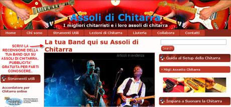 Fa conoscere la tua Band al pubblico qui su Assoli di Chitarra. Gratis