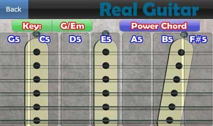 realguitar chitarra virtuale su Android app