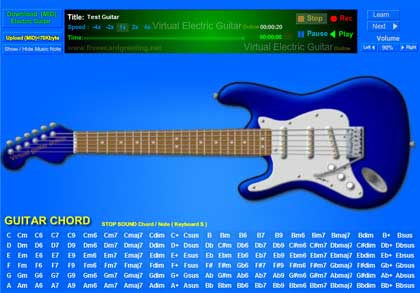 Chitarra elettrica virtuale mancina