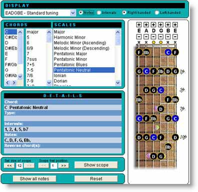 GuitarCodex: Scale e Accordi in un tool online