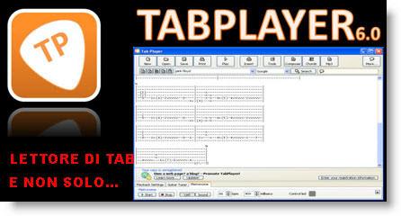 Tab Player: lettore ed editor di tablature per chitarra gratis