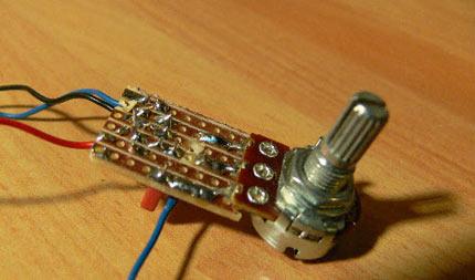Basetta elettronica del pedale Fuzz