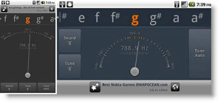 Tuner gStrings free: accordatore Android per chitarra