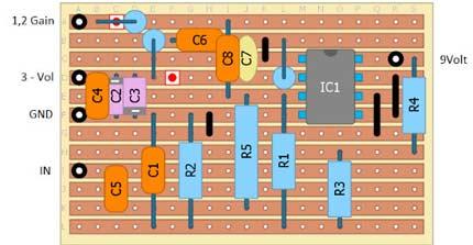 Schema montaggio componenti