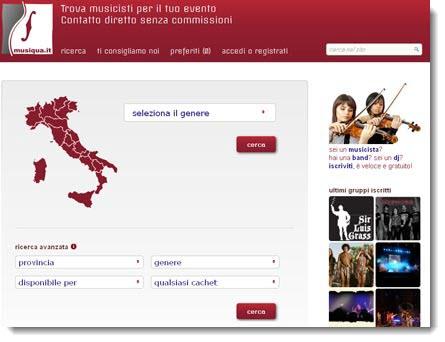 Musiqua.it: sito dedicato ai musicisti e alle band emergenti