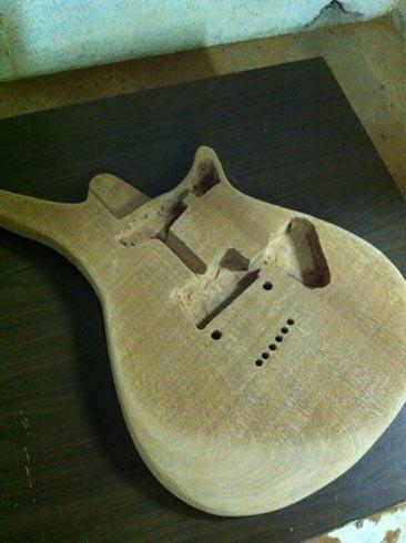 Costruiamo il body della chitarra part 2