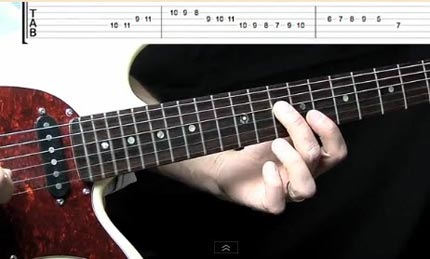 Guitar lick in stile Country