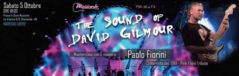 The sound of David Gilmour by Paolo Fiorini