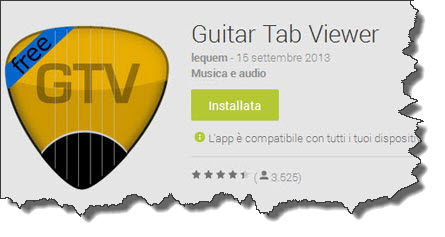 Guitar Tab Viewer: player di tab Android