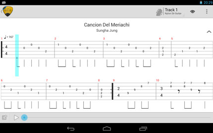Guitar Tab Viewer: player di tab Android