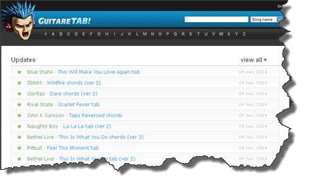 GuitareTab:risorsa online per trovare spartiti e tablature per chitarra