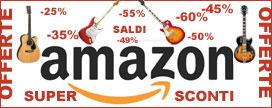 Prezzi scontati su chitarre e accessori su Amazon