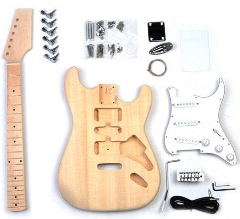 Chitarra in kit da montare in stile stratocaster
