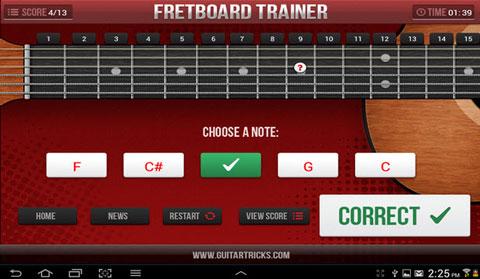 Guitar Fretboard Challenge