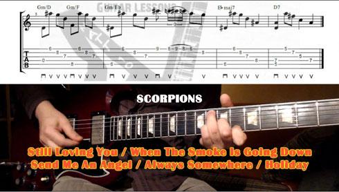 Lezione di chitarra sugli arpeggi